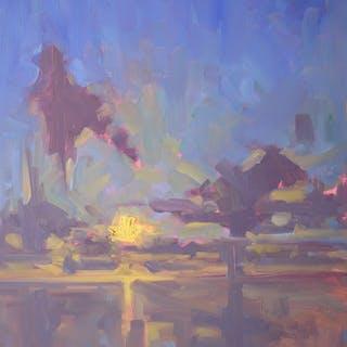 Purple-Yellow Skyscape - Timon Sloane