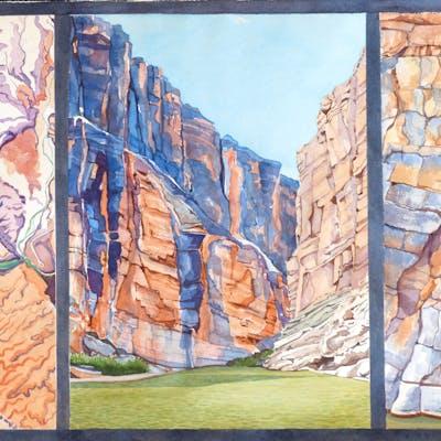 Rio Grande Santa Elena Canyon Tryptich - Leslie White