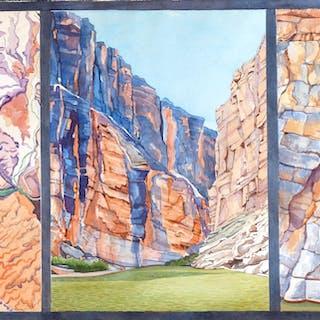 a9cf2d217 Rio Grande Santa Elena Canyon Tryptich - Leslie White