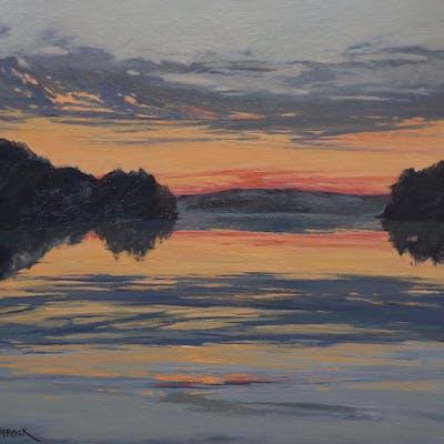 River Sunset Reflections - Lisa H Ridabock