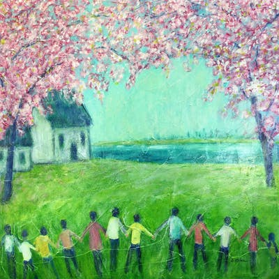 Together under the cherry blossoms - Cristina Stefan