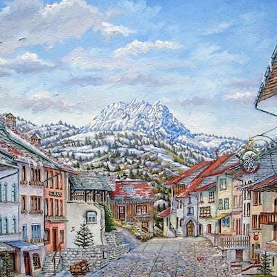 Gruyeres Switzerland - Swiss Alps Village - Mike Rabe