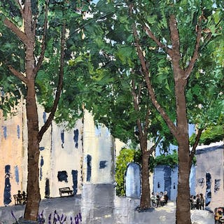 Coffee Time in St. Remy  Somewhere in Provence Ser - Lianna Klassen
