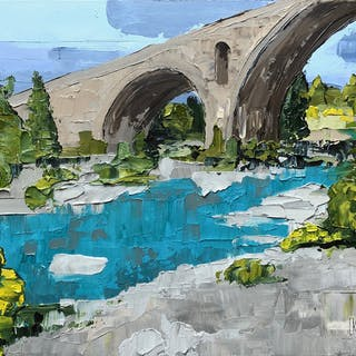 Roman Bridge  Somewhere in Provence - Lianna Klassen