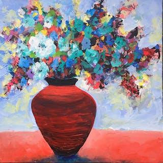 Red Pot Floral - Brent Hanson