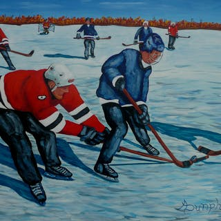 Fighting For The Puck - Anthony Dunphy