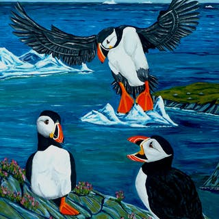 Puffin Gossip - Anthony Dunphy