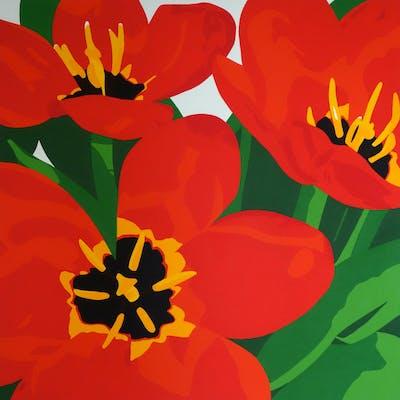 Fierce Red Tulips - Susan Porter