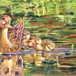 Duck Family - Lynne Atwood