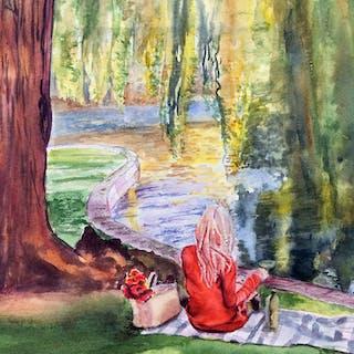 Lauren in the Public Garden - Lynne Atwood