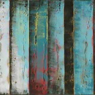 Original Panels Turquoise - Ronald Hunter