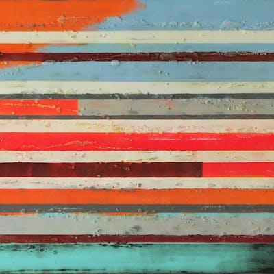 Neon Pop Art Lines - Ronald Hunter