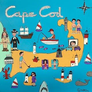 Cape Cod Map - Brian Nash