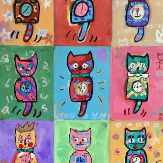 Cat clocks - Brian Nash