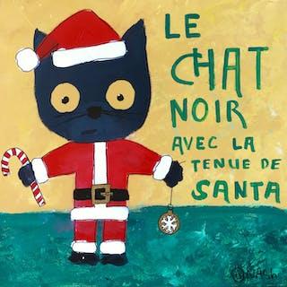 Le Chat Noir avec la tenue de Santa - Brian Nash