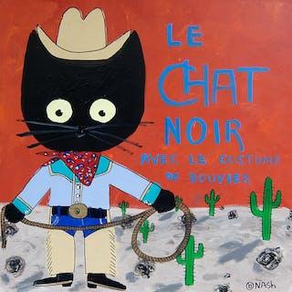 Le chat noir  cowboy - Brian Nash