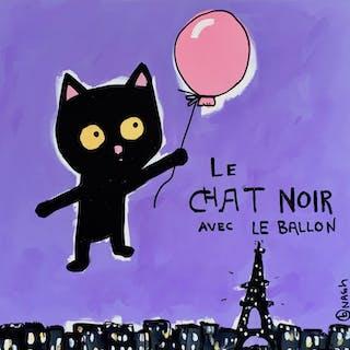Le Chat Noir Avec le Ballon - Brian Nash