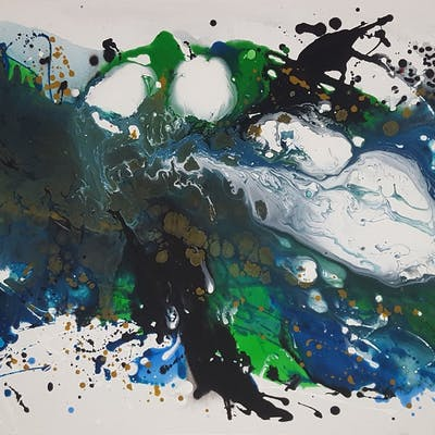 """The Beauty of today 51  59x 27 5""""""""( 150x70cm) - Veronica Vilsan"""