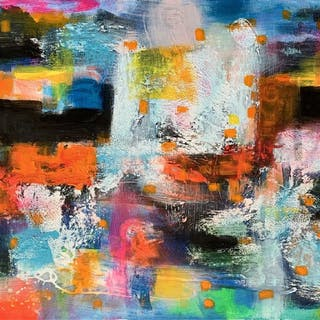 "Ode of Joy  59x 27 5""""( 150x70cm) - Veronica Vilsan"