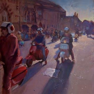 Lambrettas at Winchester - John Welsh