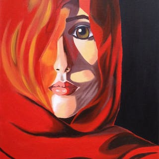 Arab woman 40x50cm on canvas - Christina Bilbili