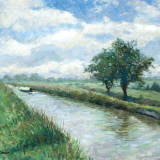 A morning walk by the canal edge. - Gav Banns