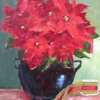 Christmas Poinsettias - Claudia Davis