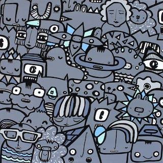 Slate Grey Square - Kev Munday