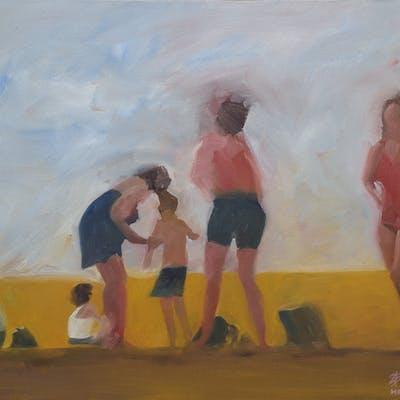 5 figures at the beach - Steven Boksenbaum