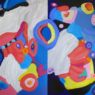 Waiting To Take You There II Diptych - Valerie Erichsen Thomson