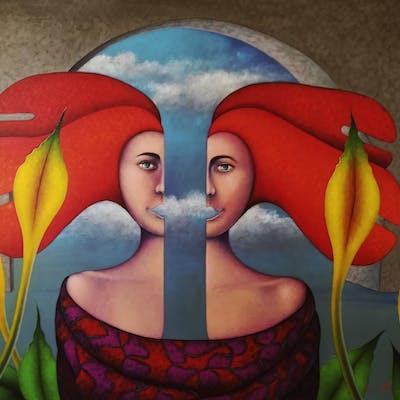 """""Gemelas""""  Original oil canvas - Jose Luis De la Barra Bellido"