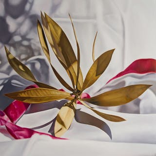 Nerium oleander with pink ribbon - Maite Backman