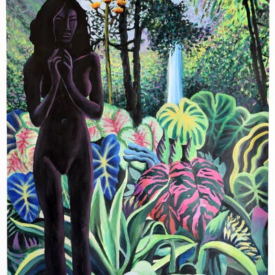 JUNGLE WITH BLACK FIGURE - Geoff Greene
