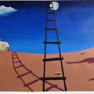 The Black Ladder (Homage to Miro) - Geoff Greene