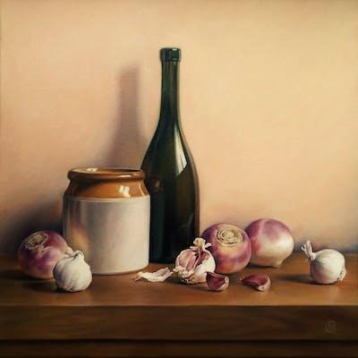 Still Life with Turnips and Garlic - Natalia Beccher