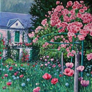 Monet's Roses - Zoe Elizabeth Norman