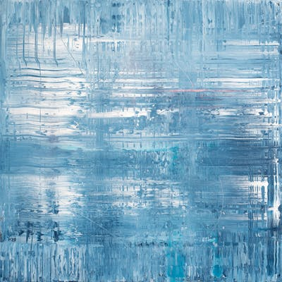 Blue abstract painting TB359 - Radek Smach