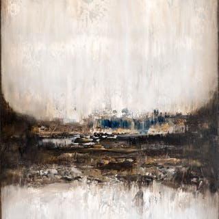 Brown abstract painting XA403 - Radek Smach