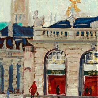 Original oil painting of Stanislas Square - Christine Jacquel