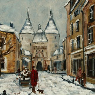 Oil Porte de la Craffe Nancy - Christine Jacquel