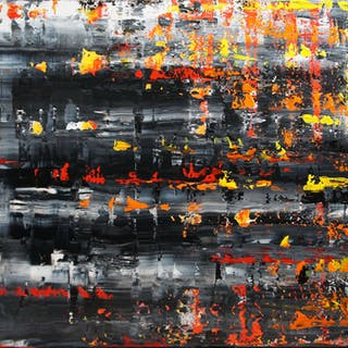 Burning Memories (120 x 80cm) XXL (48 x 32 inches) - Ansgar Dressler