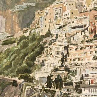 Beach at Positano - Rose ELLIS