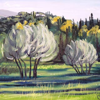 Olive Trees  Fiesole - Rose ELLIS