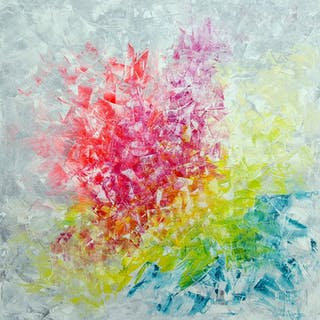 Frozen in time - XL floral abstract - Ivana Olbricht