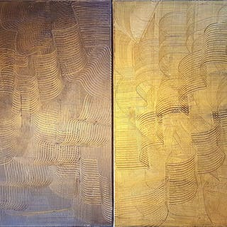 Love you day and night - diptych abstract - Ivana Olbricht
