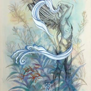 Winged Figure VI - Kathleen  Ney