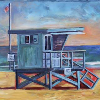 Lifeguard Tower Malibu - John Kilduff