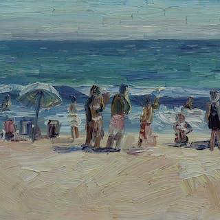 Zuma Beach Bathers - John Kilduff