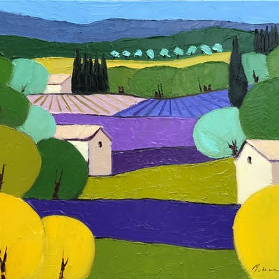 Lavender Patchwork - Mehran Rashidfarokhy