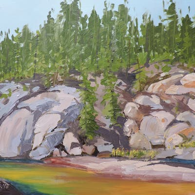 Platte River Rocks - Richard Szkutnik